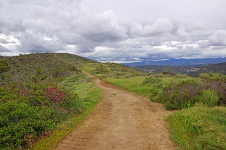 Laguna Canyon Hiking Trail Reklamní fotografie