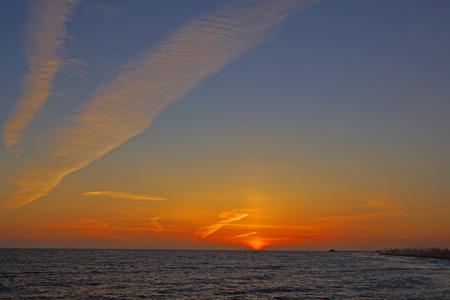orange county: Beach Sunset at Orange County beach Stock Photo