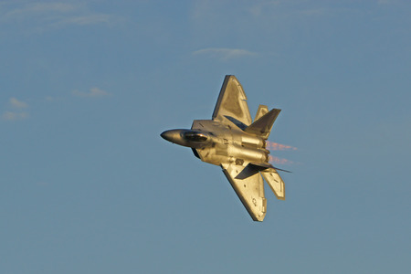raptor: F22 Raptor flying at 2015 Planes of Fame Air Show Editorial