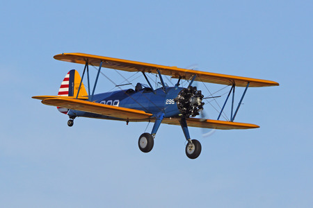 Biplane flying at 2015 Air Show