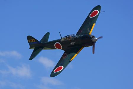 Air Show Airplane Vintage WWII Japanese Zero Fighter