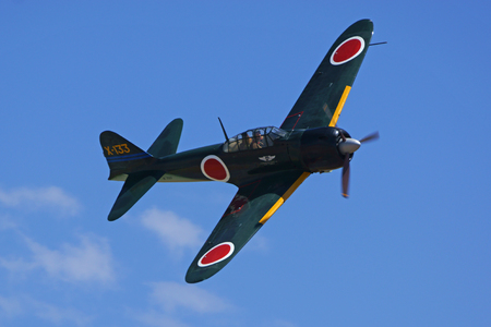 wwii: Air Show Airplane Vintage WWII Japanese Zero Fighter