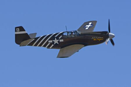 air show: Air Show Airplane Vintage WWII P51 Mustang