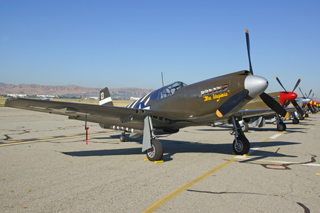 wwii: P51 Mustang Vintage WWII airplanes at Air Show