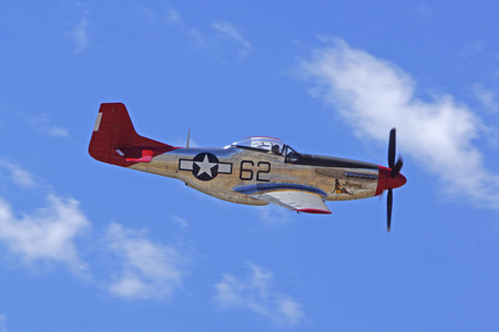wwii: P51 Mustang WWII Airplane flying at Air Show