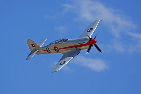 hawker: WWII Hawker Sea Fury Airplane Editorial
