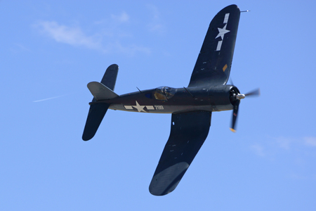 corsair: Corsair WWII Airplane Flying at Airshow