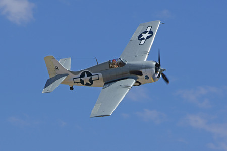 wwii: Airshow F4 Wildcat WWII Airplane flying