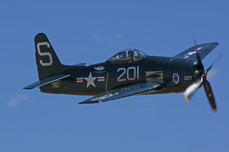 bearcat: F8 Bearcat WWII Fighter Airplane Flying