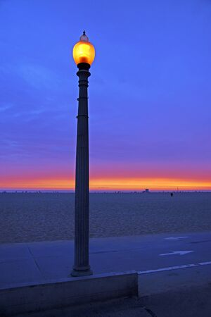 lamp post: Beach Lamp Post at Twilight