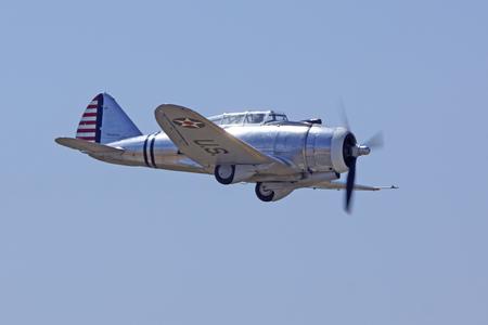 curtis: Airplane vintage WWII Curtis P-36 Hawk