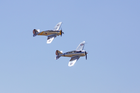 curtis: Rare WWII vintage airplanes flying at Air Show