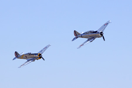 curtis: Airplane Vintage WWII aircraft flying at Air Show