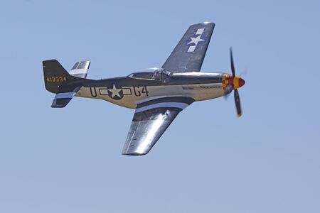 Airplane P-51 Mustang fighter plane