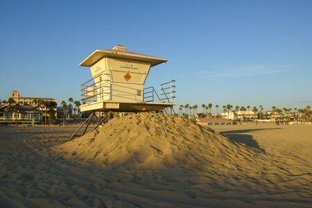 life guard: Life guard station at California beach Stock Photo