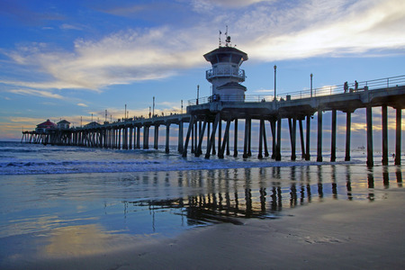 california coast: Beach pier at California coast
