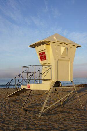 life guard: Beach life guard shack Stock Photo