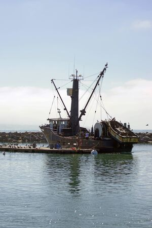 commercial fishing net: Commercial fishing boat