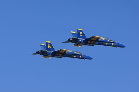 f18: Jet Airplanes Blue Angels F-18 Hornet fighters Editorial