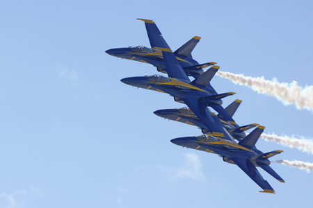 motor launch: Jet Blue Angels Flight Demonstration Squadron