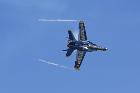 f18: Airplane Blue Angels F-18 Jet aircraft Editorial