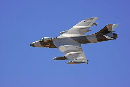california delta: Jet aircraft fighter flying at air show
