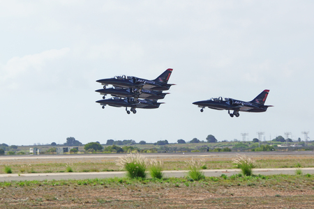 squadron: Jet squadron take-off in formation at 2015 Air Show