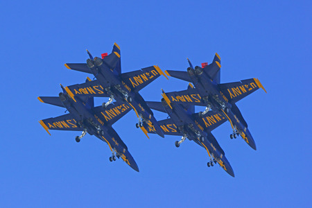 f 18: Jet fighters of the Navy Blue Angels Flight team Editorial