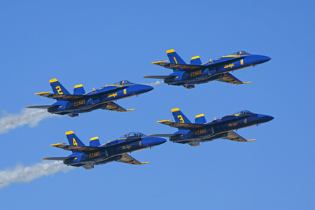 f 18: Jet fighters from the Navy Blue Angels Editorial