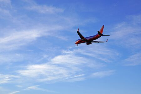 Jet Southwest Airlines landing at airport Stock Photo - 54077846