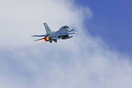 f 15: Jet fighter F-15 flying at air show