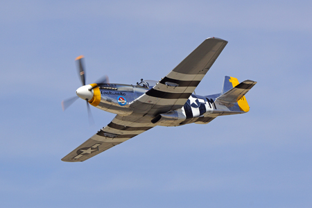 wwii: Airplane P-51 Mustang WWII fighter Editorial
