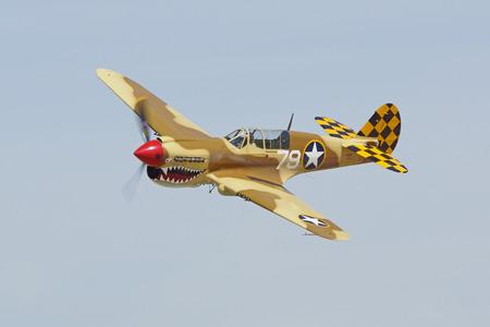 wwii: Airplane P-40 Warhawk WWII fighter Editorial
