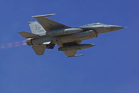 f 15: Jet fighter F-15 Falcon flying at air show