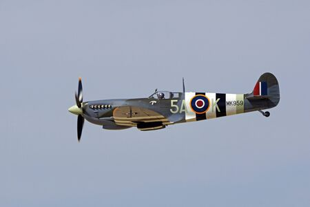 wwii: Airplane WWII vintage Great Britain Spitfire fighter Editorial