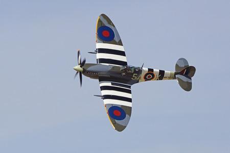 Airplane WWII Great Britain vintage Spitfire fighter