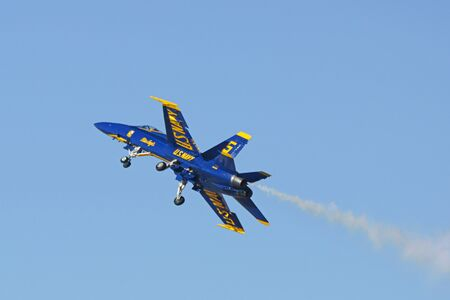 jets: Airplane Blue Angels F-18 Hornet jets performing at  Air Show Editorial