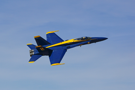 Airplane jet fighter Blue Angels F-18