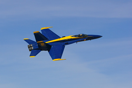 f18: Airplane Blue Angels F-18 jet fighter flying