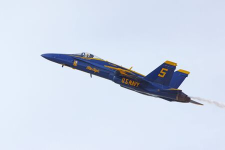 f18: Airplane Blue Angels F-18 Hornet jet fighter Editorial