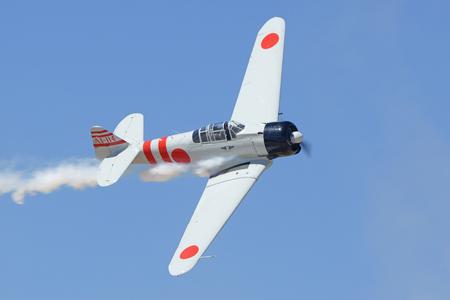 wwii: Airplane vintage WWII Zero fighter aircraft