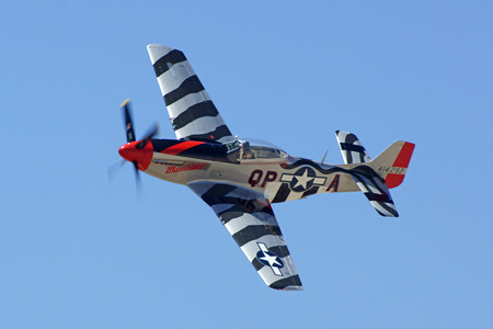 wwii: Airplane WWII P-51 Mustang flying