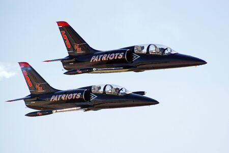 motor launch: Airplanes L-39 Albatross of the Patriots Jet team Editorial