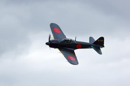 wwii: Airplane WWII Japan Zero flying