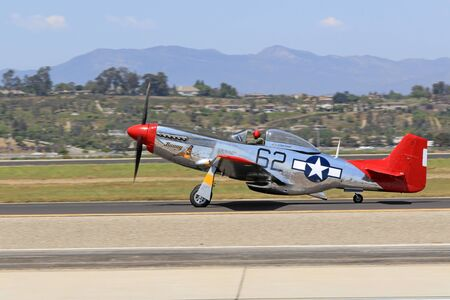 wwii: Airplane P-51 Mustang vintage WWII Fighter