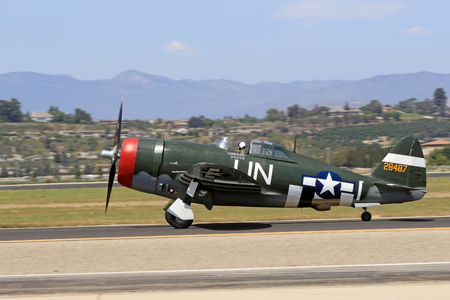Airplane P-47 Thunderbolt vintage WWII Fighter Editorial