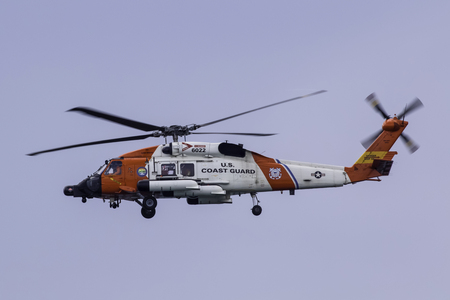 coast guard: Coast Guard helicopter flying at air show Editorial