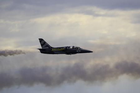 troop: Jet airplane L-39 Albatross of Breitling Jet Team Editorial