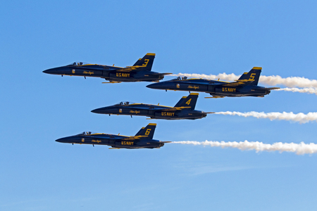 Airplanes Blue Angels F-18 Hornet jet fighters