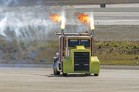 dragster: Dragster Shockwave jet truck Editorial